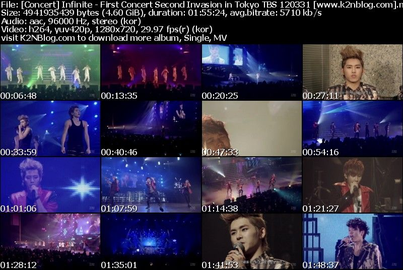 [Concert] Infinite   First Concert Second Invasion in Tokyo TBS 120331 [HD 720p]