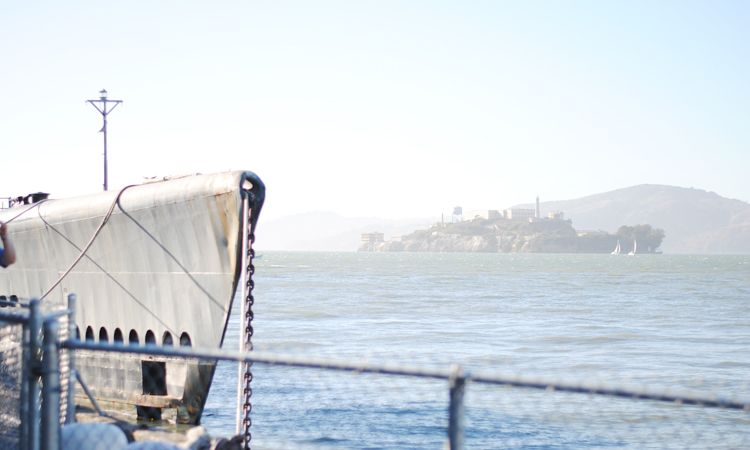 San Francisco, California, tourists, Alcatraz, fisherman's wharf, architecture, vintage, old, antique