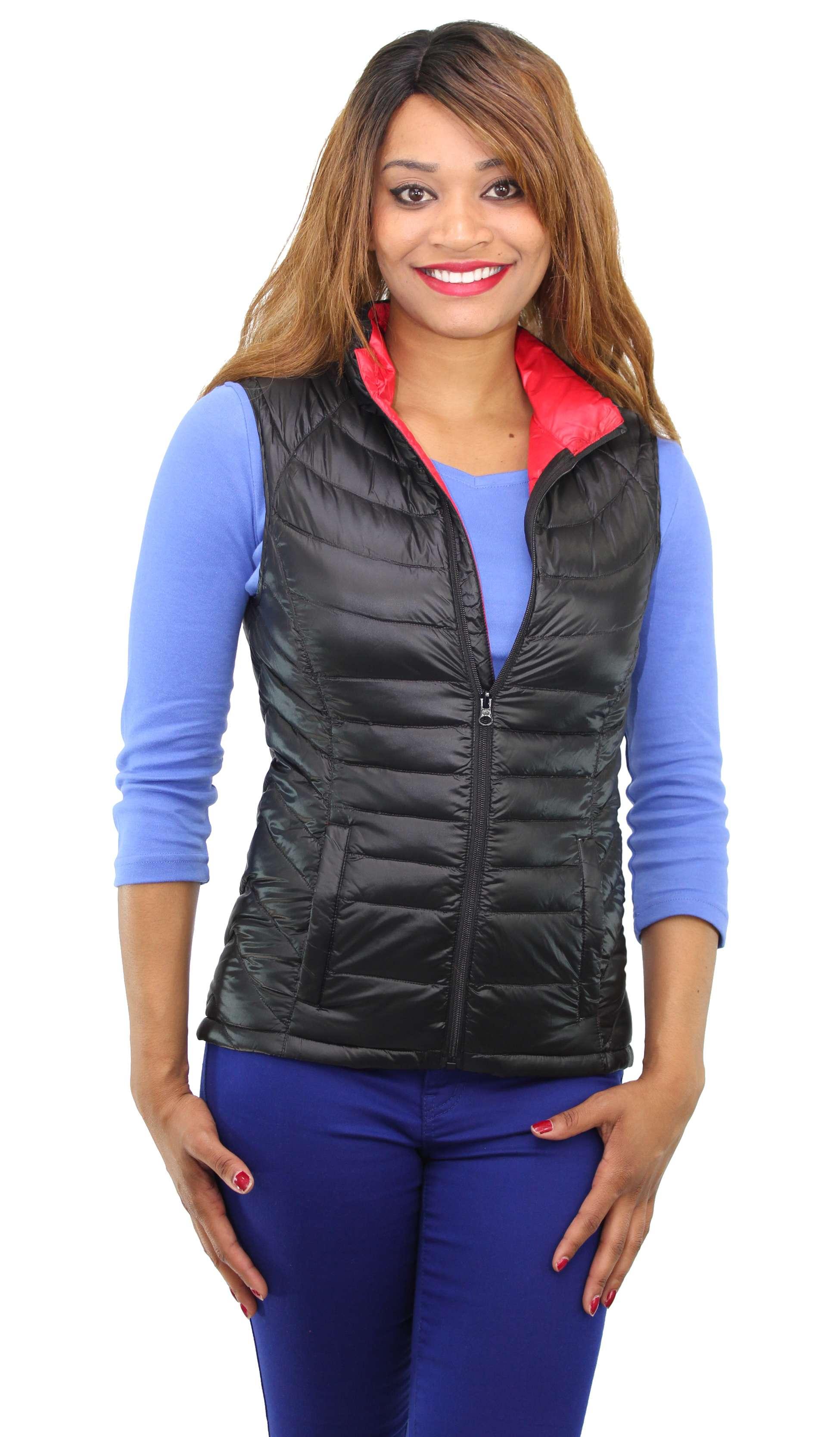 Ideology Women S Sleeveless Packable Down Vest Ebay