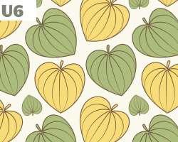 Heart Shape Leaves Pattern
