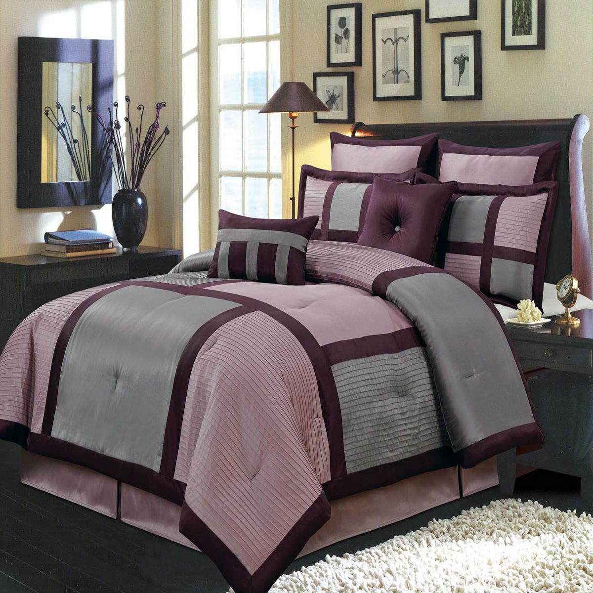 Scotts-sales Morgan Purple Luxury 12-Piece Bed in a Bag