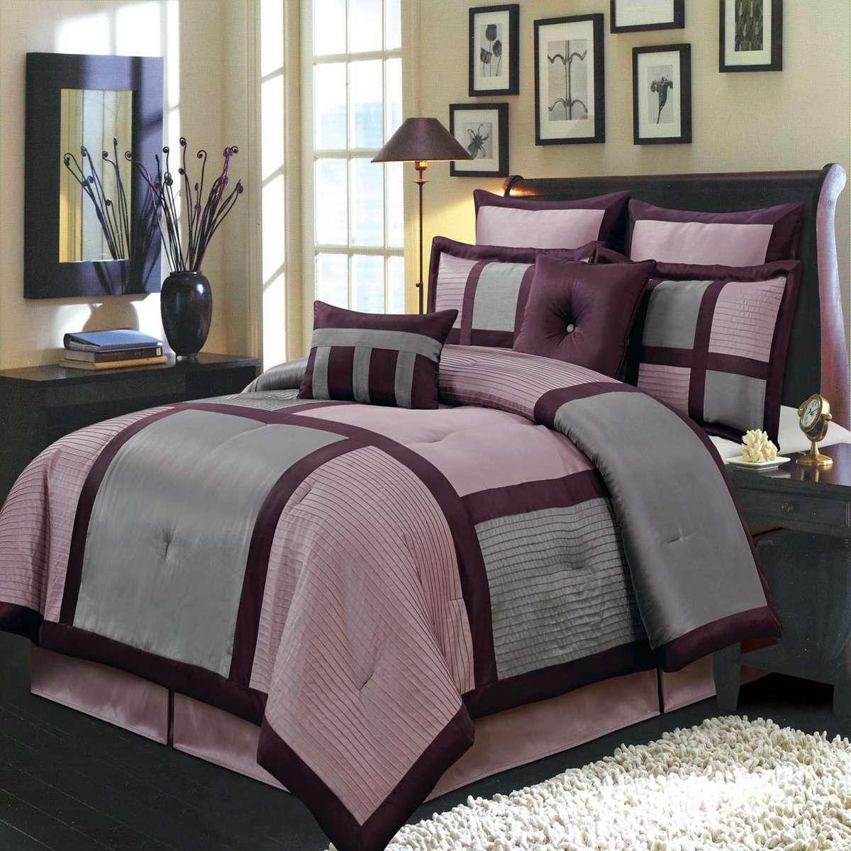 Scotts-sales Morgan Purple Luxury 8-Piece Comforter Set