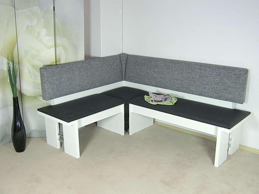 moderne eckbank wei schwarz sitzecke esszimmer k che. Black Bedroom Furniture Sets. Home Design Ideas