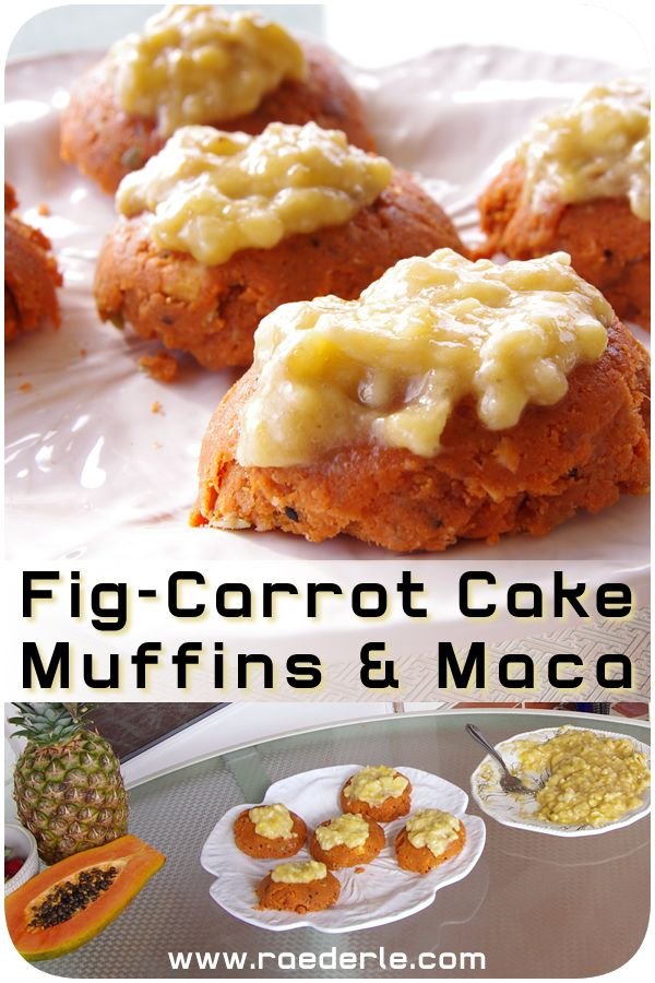 Raw Vegan Carrot Cake Muffins by Raederle