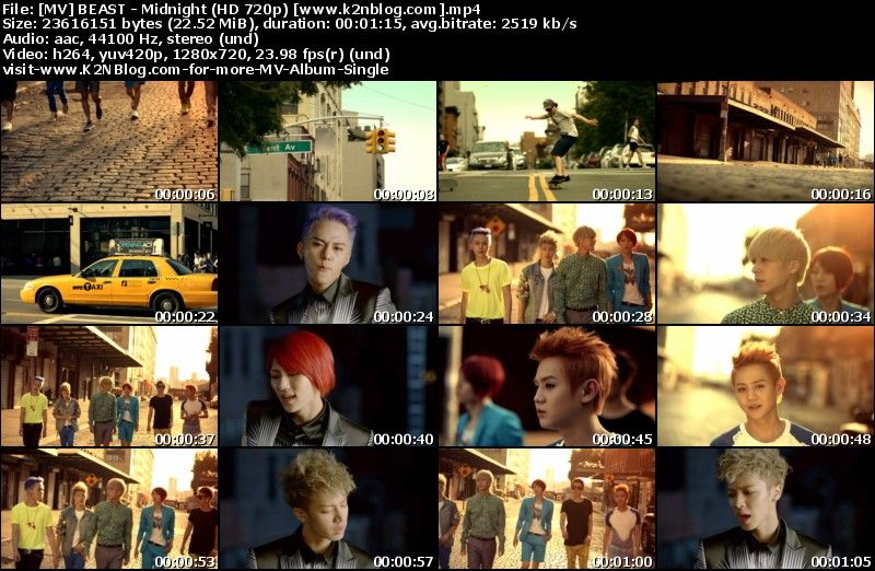 [MV] BEAST - Midnight (HD 720p Youtube)