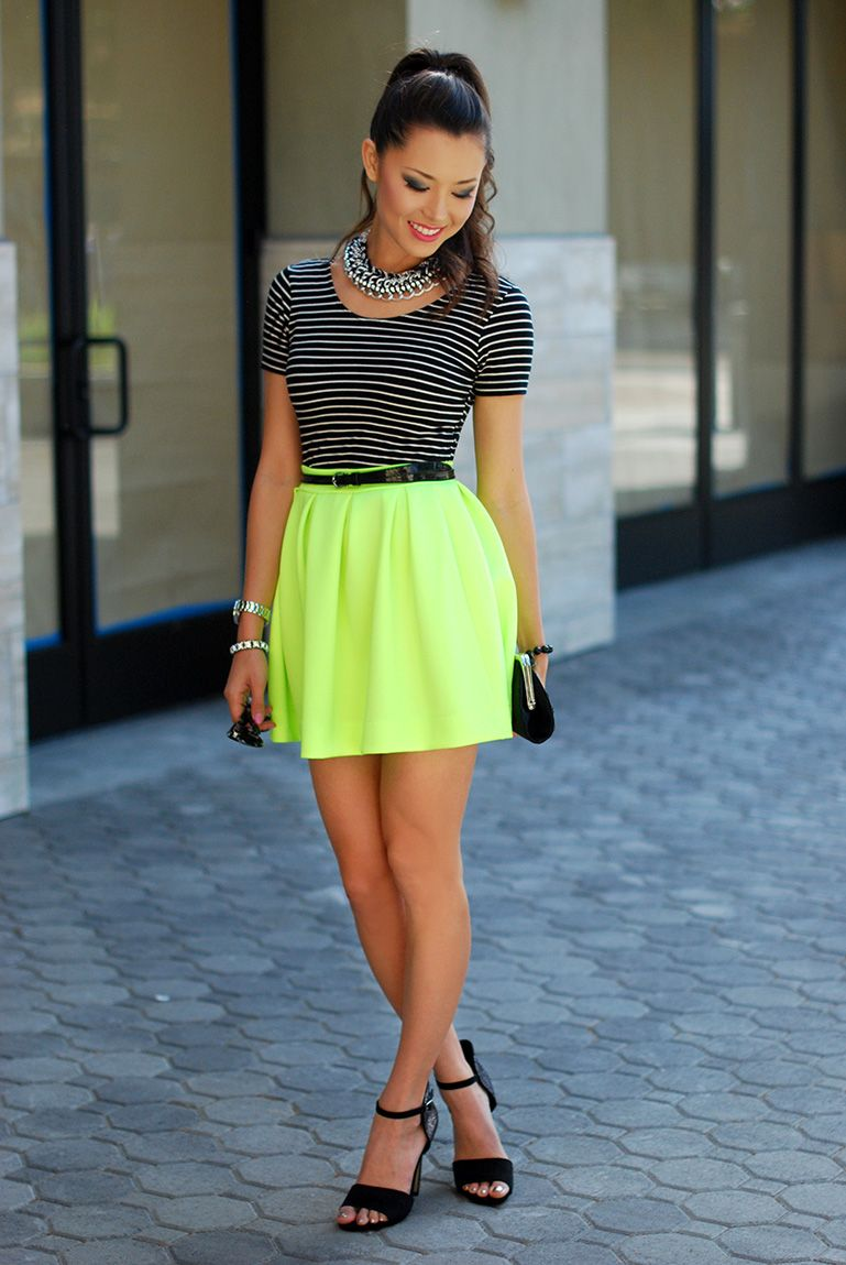 fashion fashion blog hapa neon lime green circle skirt california fashion 2013 fashion