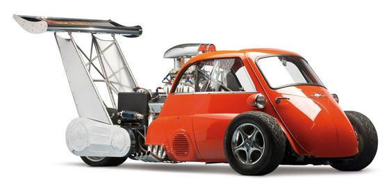 1959 BMW Isetta Whatta Drag with 730 HP Chevrolet V8 engine