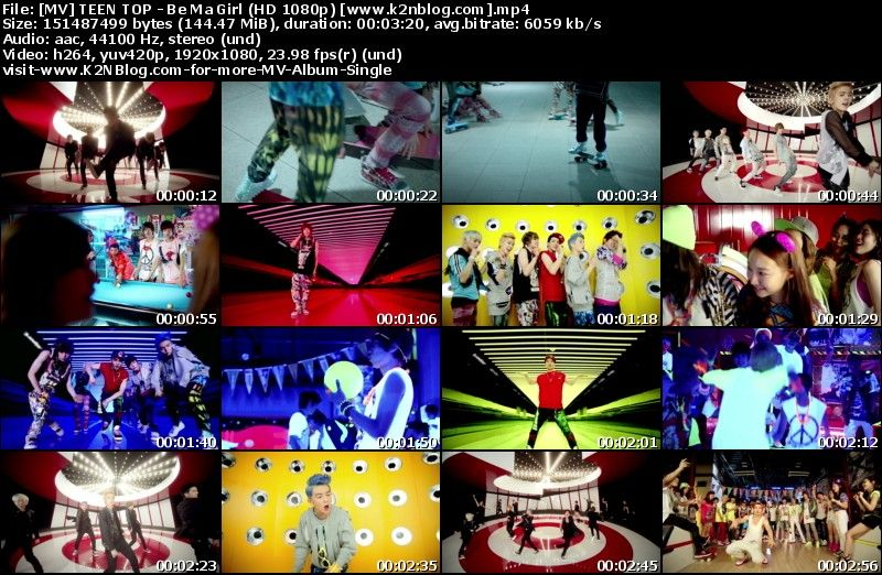 [MV] TEEN TOP - Be Ma Girl (HD 1080p Youtube)