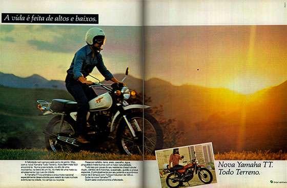A vida é feita de altos e baixos. Yamaha TT 1979. Todo Terreno.