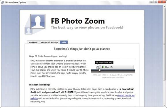 Verwijder FB Photo Zoom Virus