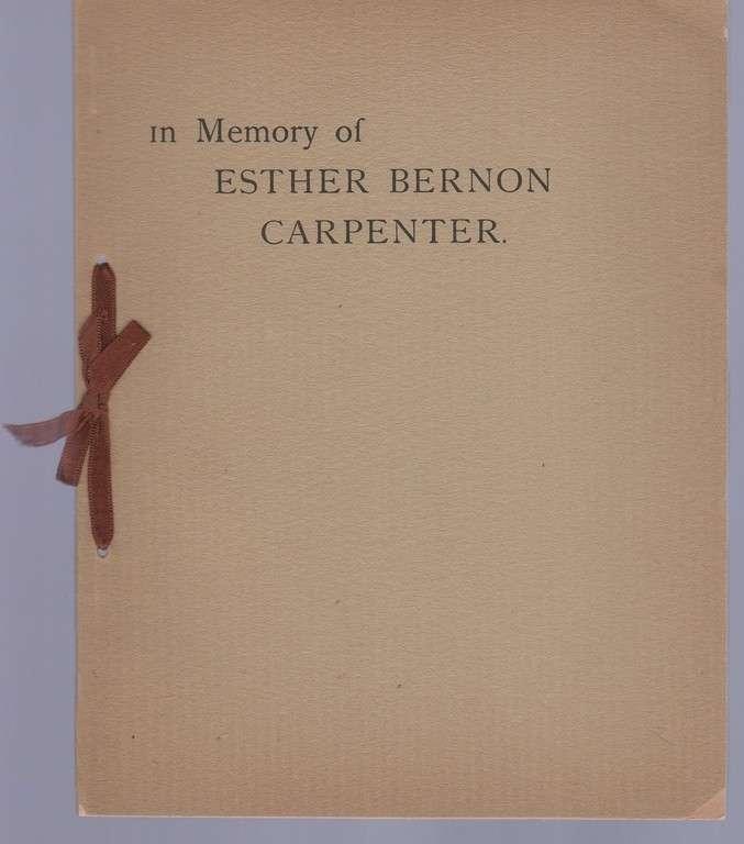 In Memory of Esther Bernon Carpenter