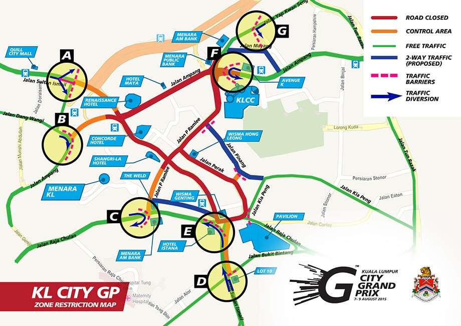 KL City Grand Prix Map