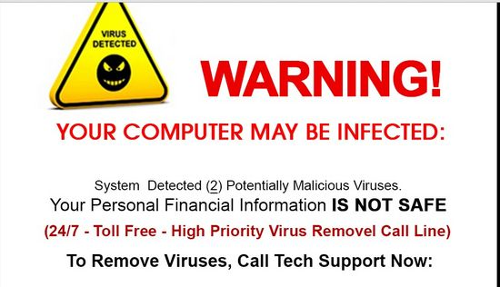 Remove 1-877-695-4931 Warning! Your Computer May be Infected