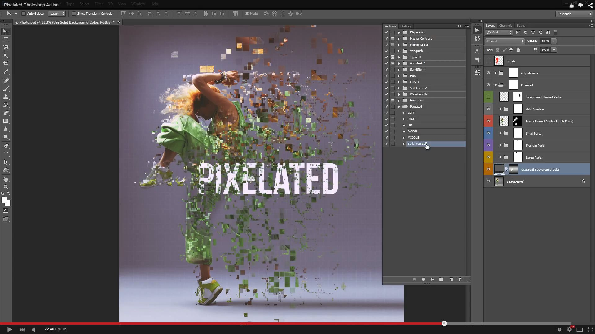 Pixelated Photoshop Action