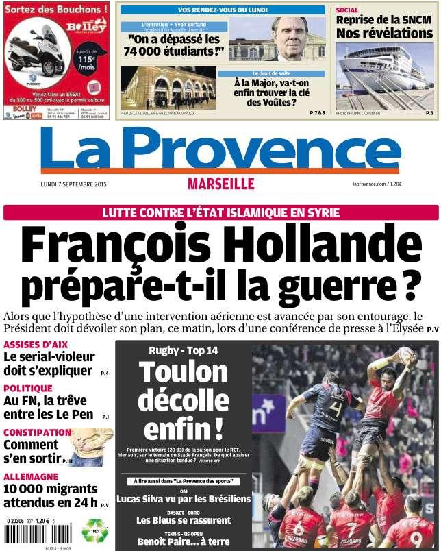 La Provence Marseille du lundi 7 septembre 2015