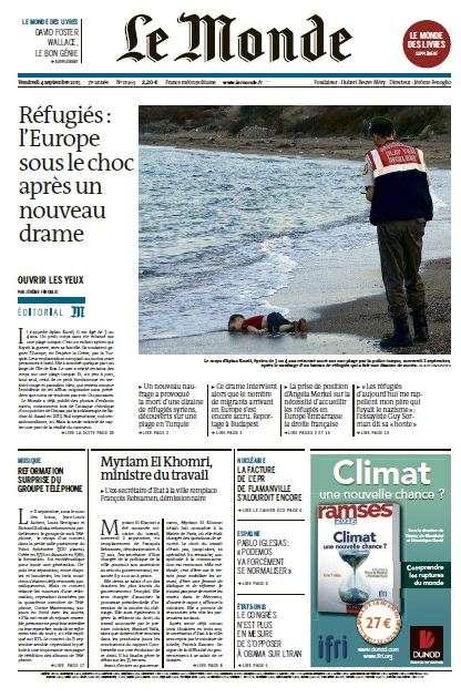 Le Monde du Vendredi 4 Septembre 2015
