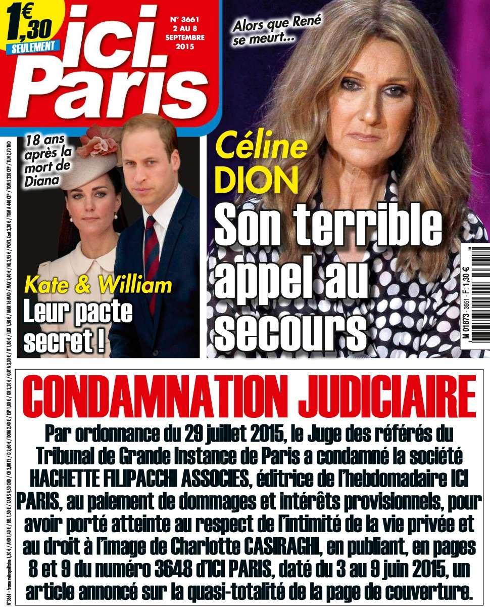 Ici Paris 3661 - 02 au 08 Septembre 2015