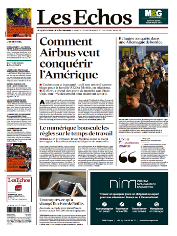 Les Echos Du Mardi 15 Septembre 2015