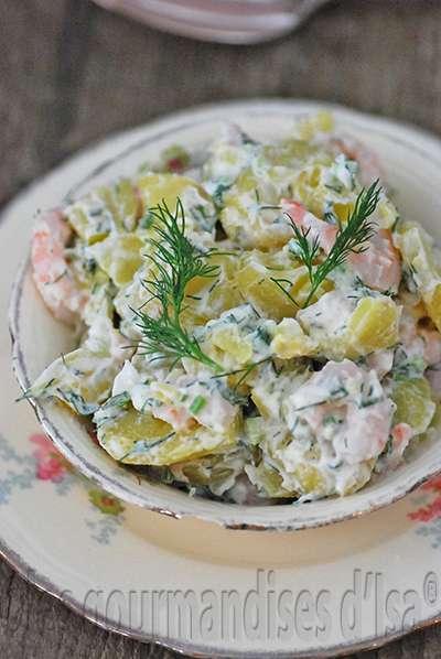 salade de petites pommes de terre et crevettes l 39 aneth. Black Bedroom Furniture Sets. Home Design Ideas