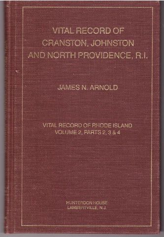 Vital record of Cranston, Johnston and North Providence, Rhode Island, Arnold, James N