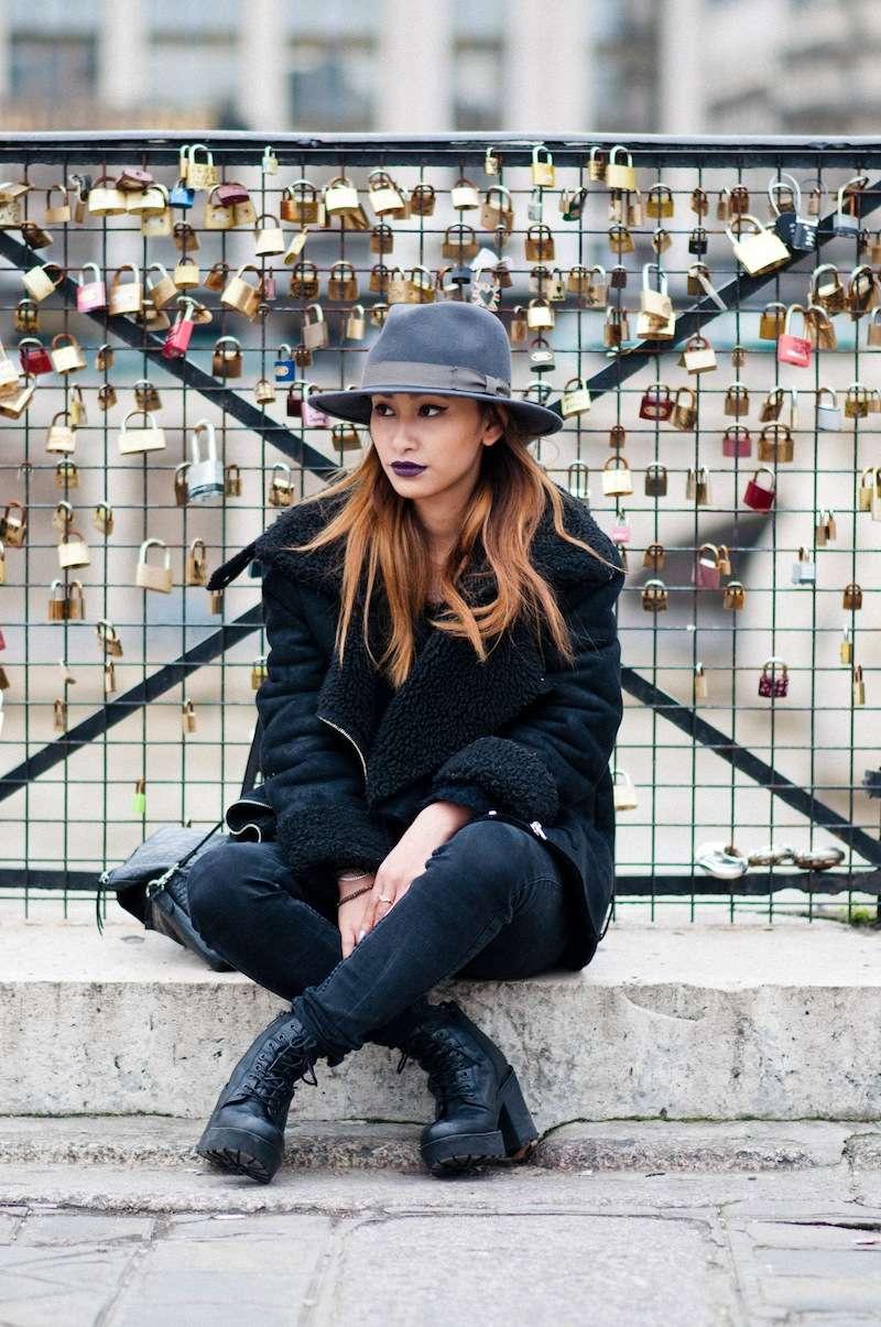 bottines noires en cuir blog mode