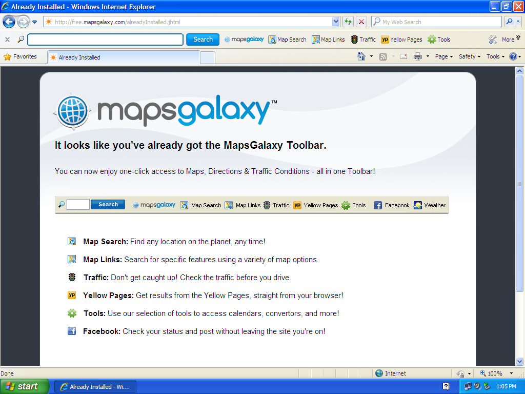 Remove maps galaxy toolbar