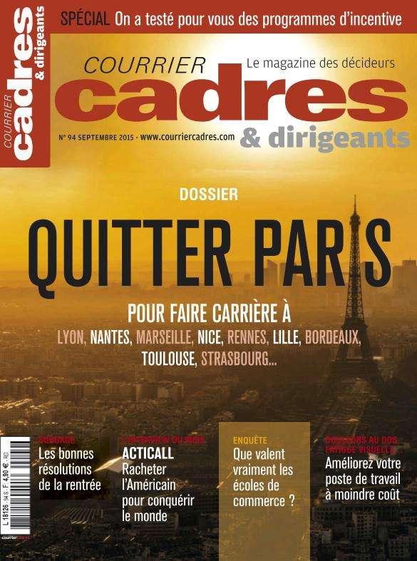 Courrier Cadres & Dirigeants - Septembre 2015