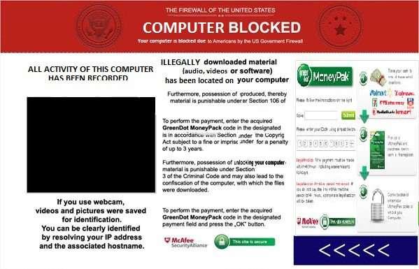 Verwijder Amerikaanse regering Virus Firewall