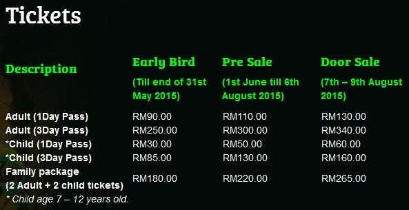 Rainforest World Music Festival Tickets Details