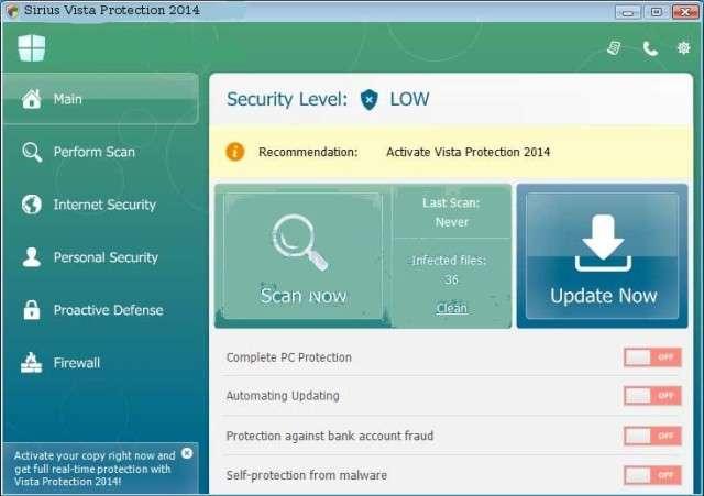 Verwijder Sirius Vista Protection 2014