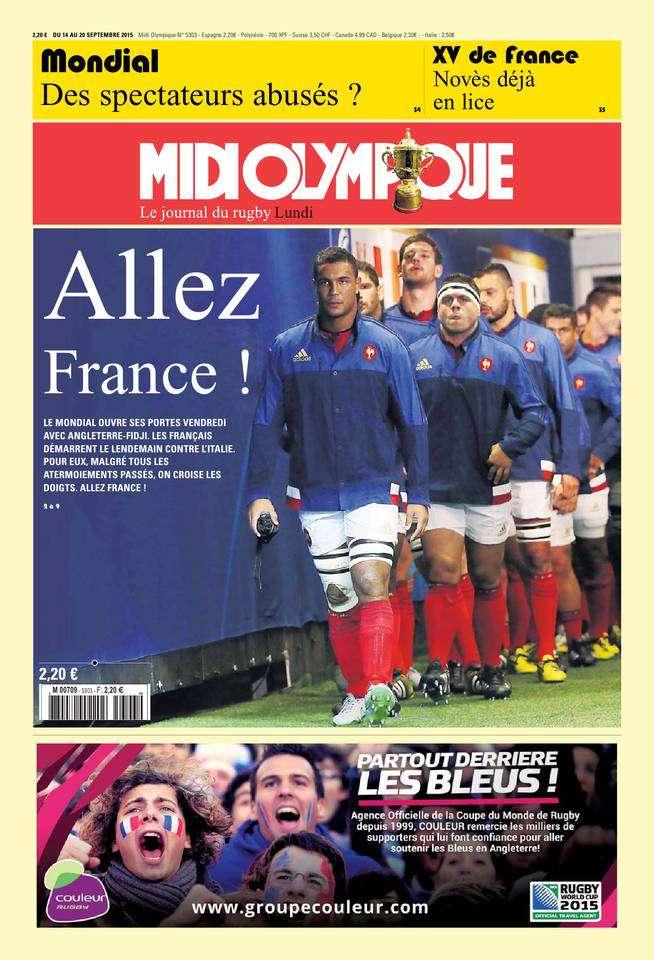 Midi Olympique Rouge du lundi 14 septembre 2015