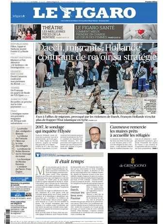 Le Figaro Du Lundi 7 Septembre 2015