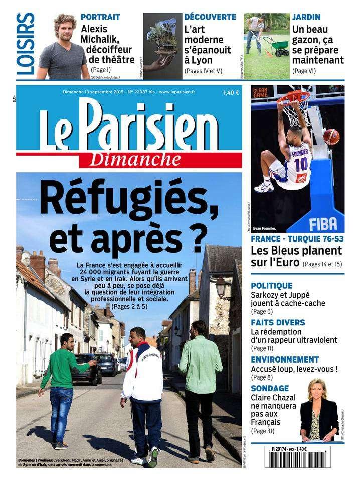 Le Parisien du Dimanche 13 Septembre 2015