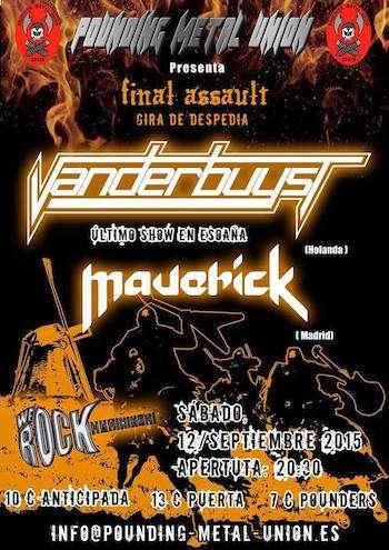 Maverick y Vanderbuyst - cartel madrid