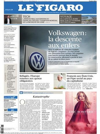 Le Figaro Du Mercredi 23 Septembre 2015