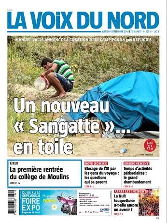 La Voix Du Nord (Lille) Du Mardi 1 Septembre 2015