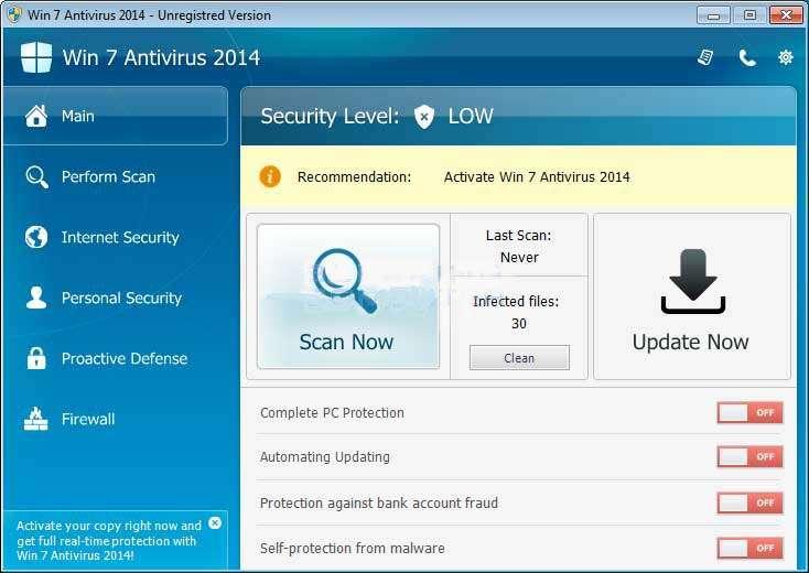 Verwijderen Win 7 Antivirus 2014
