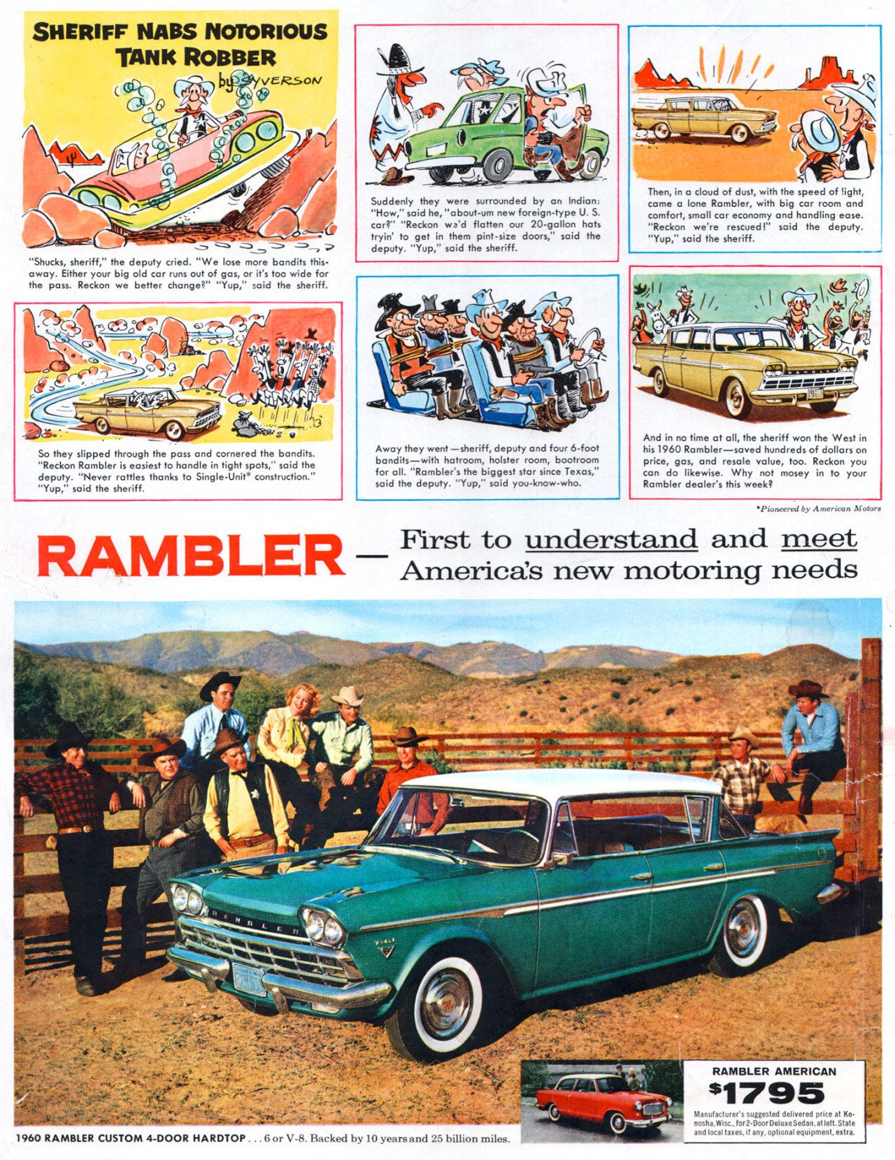 American Motors Rambler. The first car to understand and meet America's new motoring needs.