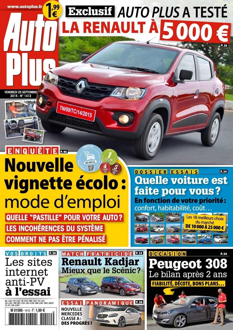 Auto Plus 1412 - 24 Septembre 1er Octobre 2015