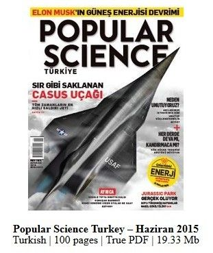 Popular Science Turkey Dergisi Haziran 2015 indir
