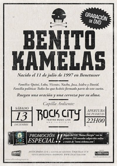 Fin de gira Benito Kamelas