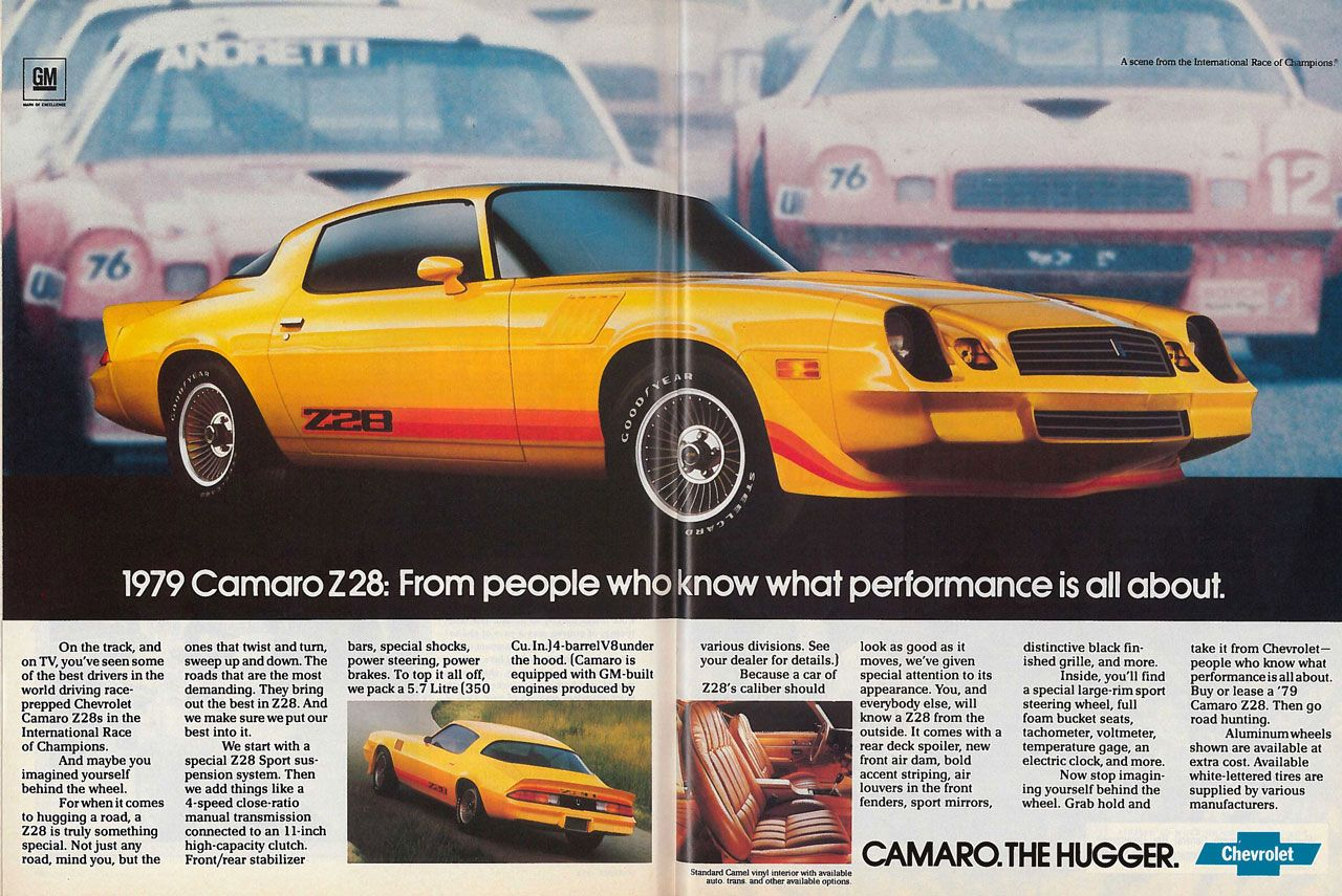 1979 Chevrolet Camaro Z/28. From people who know what performance is all about.