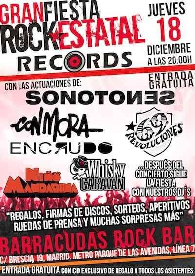 Fiesta Rock Estatal Records. Cartel