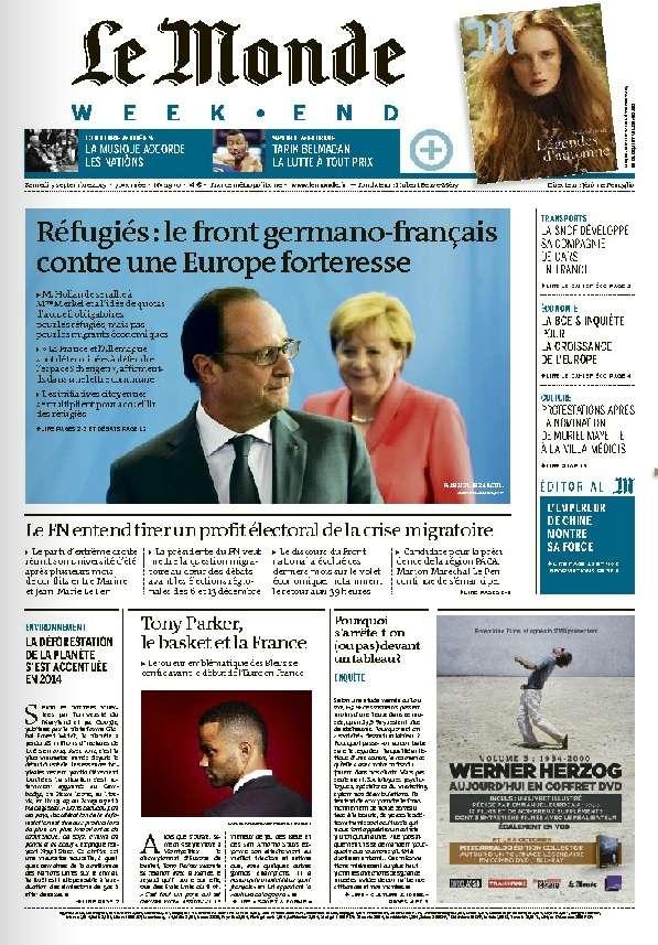 Le Monde Weekend et 4 Suppléments du Samedi 5 Septembre 2015