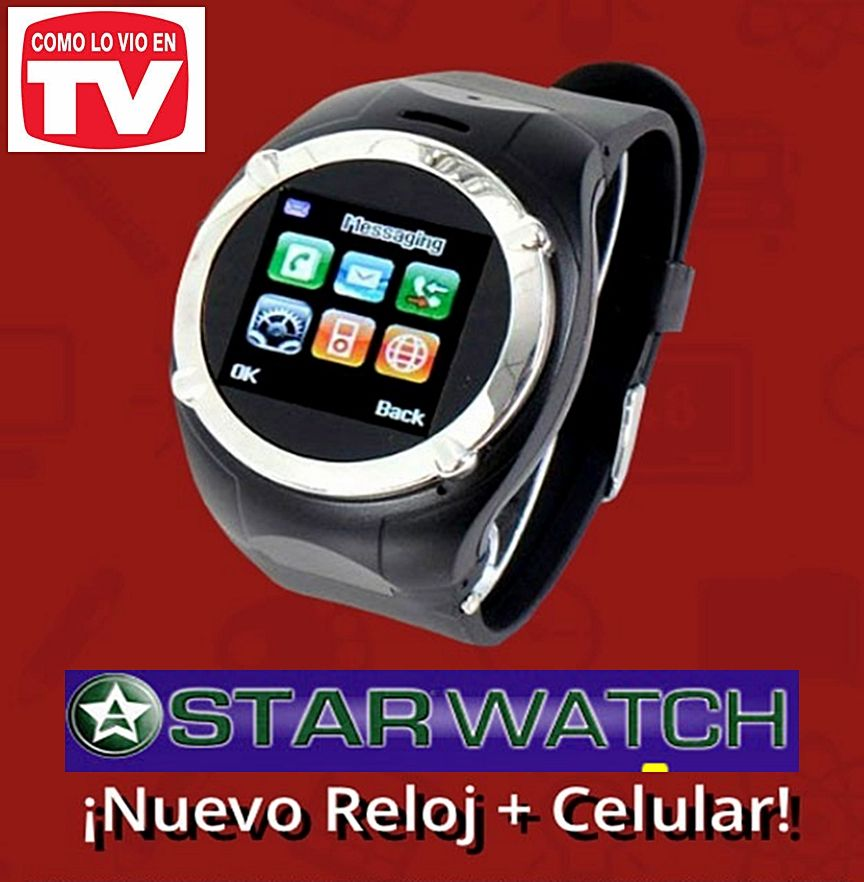 starwatch reloj celular smart phone lg samsung ipod iphone telefono cargador