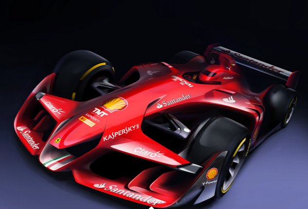 Ferrari rendered images of Formula 1 concept car Regulations F1 Commission Meeting Geneva