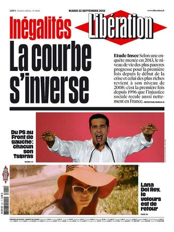 Liberation Du Mardi 22 Septembre 2015