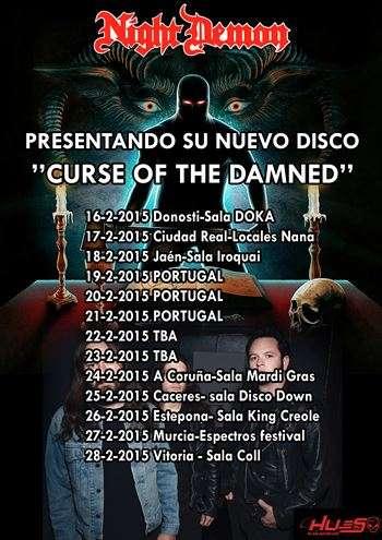 Night Demon en España. Cartel