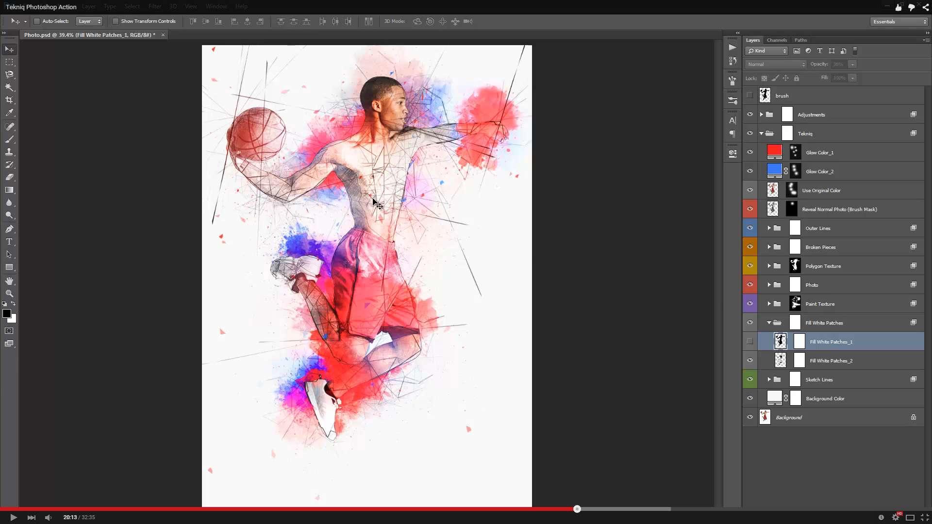 Tekniq Photoshop Action