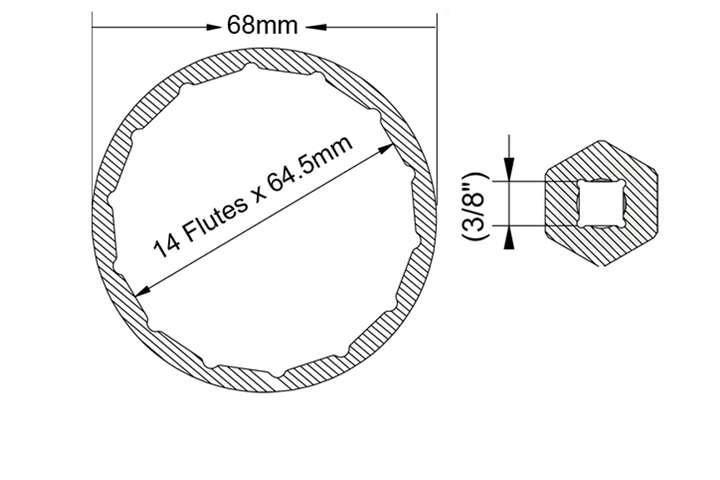 toyota corolla rav4 auris oil filter aluminum cup wrench